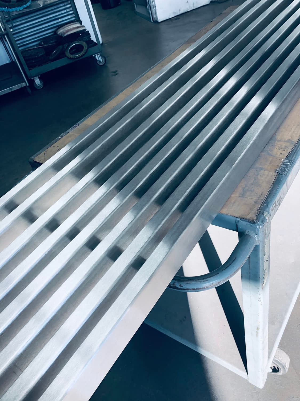 stainless steel, rectangular tubes, #4 brush finish