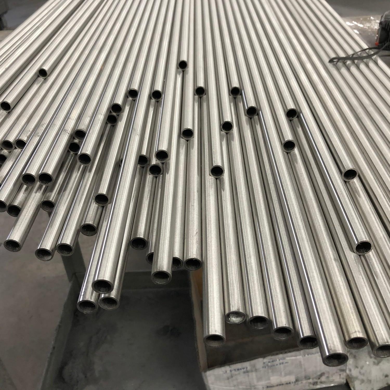 fine line grain finish on stainless tubes